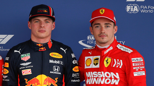 Charles Leclerc y Max Verstappen.
