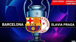 El Barça recibe esta tardeal Slavia Praga en el Camp Nou