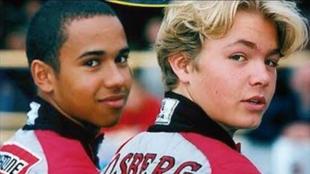 Hamilton y Rosberg, a temprana edad.