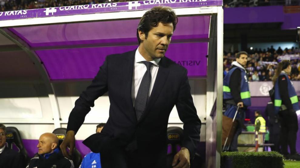 Solari en un encuentro como entrenador del Madrid.