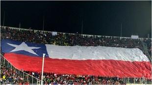 Afición de Chile en el Estadio Nacional