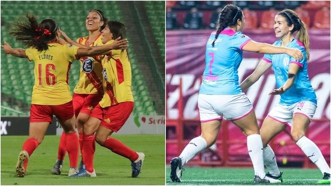 Morelia y Monterrey celebrando su anotación