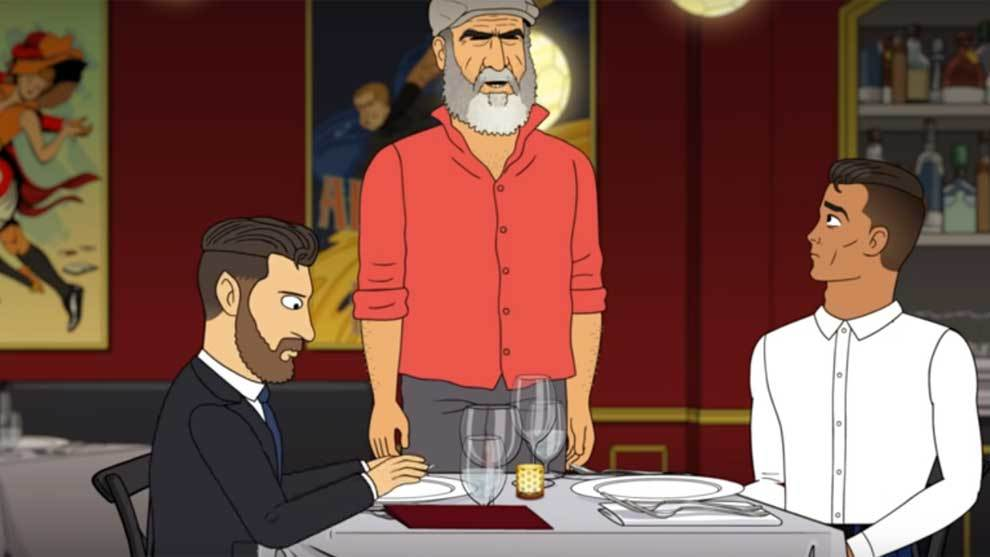 Champions League Messi And Ronaldo Go For Dinner In A Cartoon Marca In English