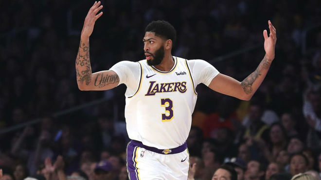 Anthony Davis, natural de Chicago, jugando con Los Ángeles Lakers