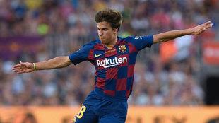 Riqui Puig, con el Barça.