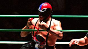 Fuerza Guerrera en una lucha con Octagón.