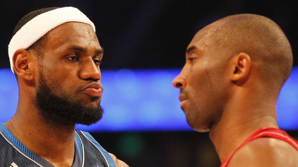 Kobe y LeBron, frente a frente