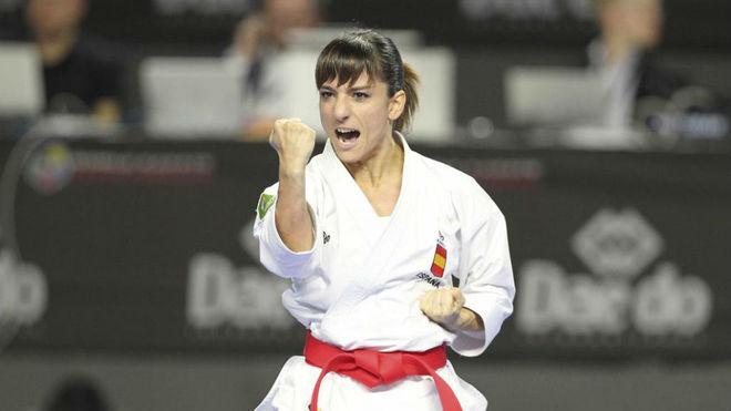 Sandra Sánchez, en el Mundial de Madrid.