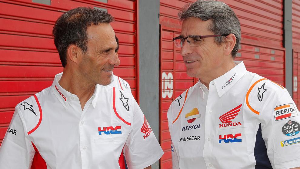 Alberto Puig, a la izquierda.