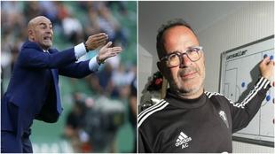 Paco Jémez y Álvaro Cervera, técnicos de Rayo y Cádiz