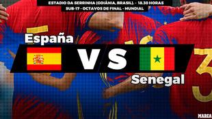 España - Senegal: horario y donde ver en television hoy el partido de...