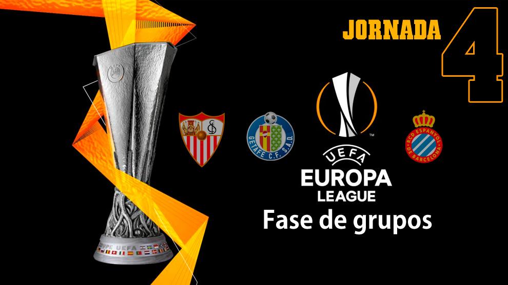 Europa League: partidos, horarios y donde ver hoy en TV la jornada 4..