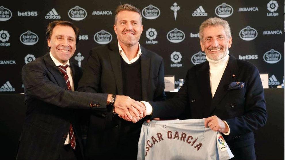 Oscar García, presentado como nuevo entrenador céltico.