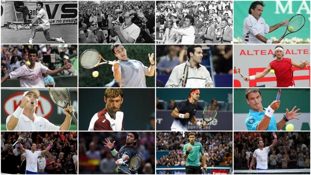 Los 15 maestros que ha tenido el tenis español en su historia