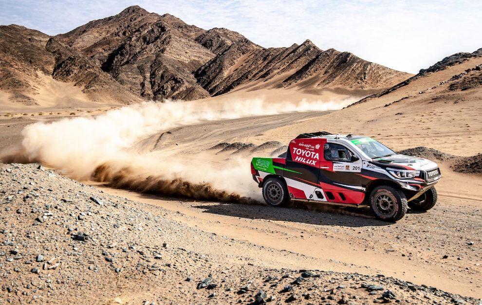 Al-Rajhi (Toyota), ganador de la segunda etapa del Ula-Neom Rally.