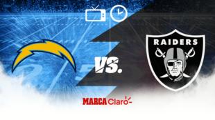 Raiders vs Chargers: Horario y dónde ver