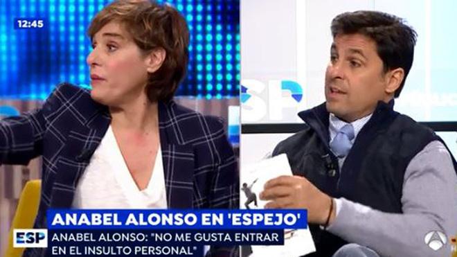 Fran Rivera y Anabel Alonso protagonizan un tenso encuentro en 'Espejo...
