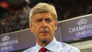Arse Wenger en el un juego de Champions League