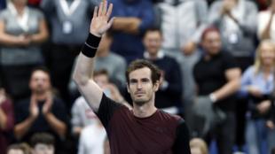 Andy Murray celebrando la victoria en el European Open