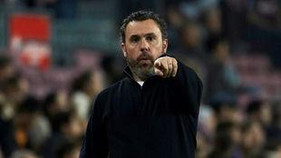 Sergio en el encuentro ante el Barcelona