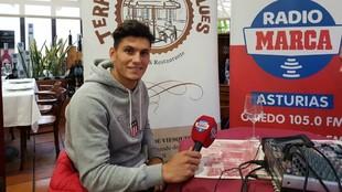 Salvador, durante la entrevista en radio MARCA Asturias