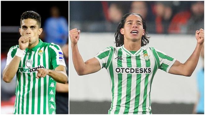 Marc Bartra y Diego Lainez, futbolistas del Betis.