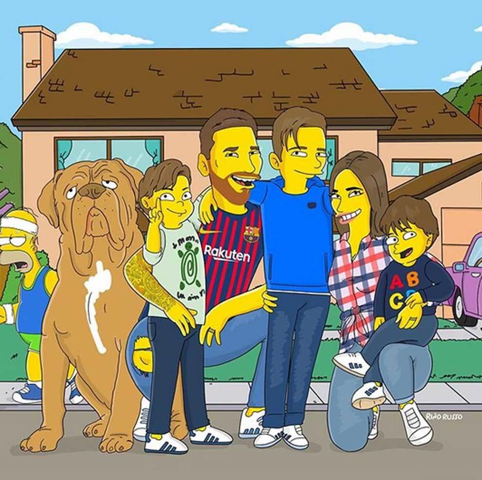 Rino Russo ha convertido a la familia Messi en personajes de la serie...
