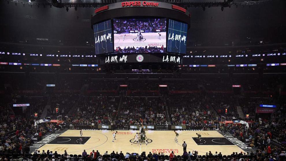 Una imagen del Staples Center en un partido de los Clippers.