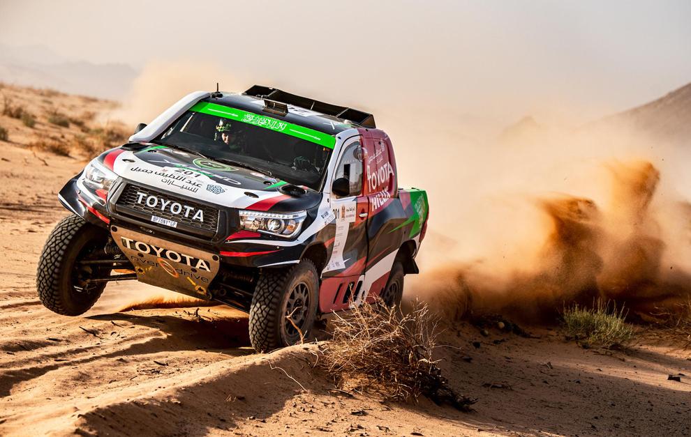 Yazeed Al-Rajhi (Toyota), a mai verseny győztese.