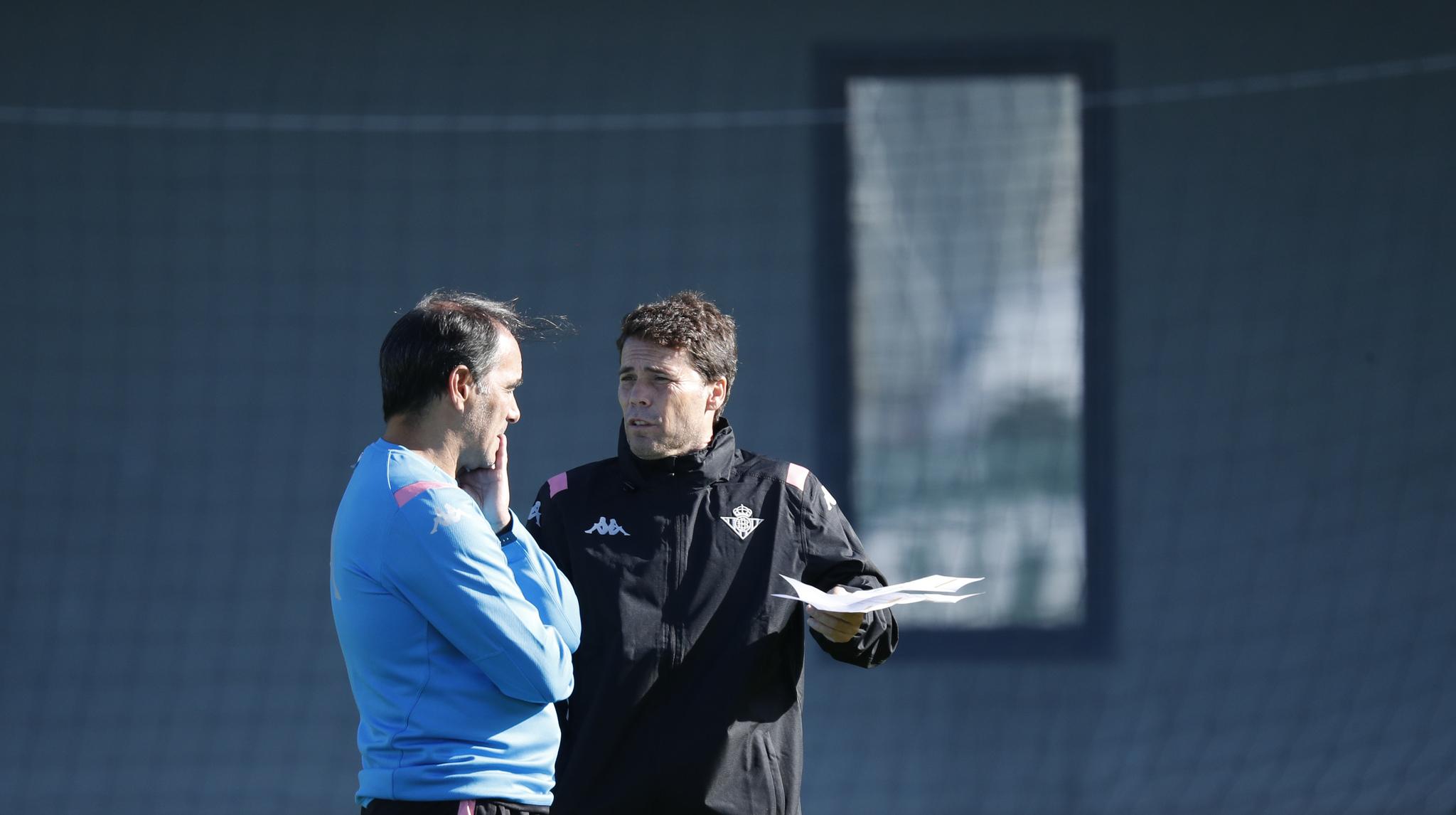 Rubi, con su segundo en el entrenamiento de ayer | Ramón Navarro