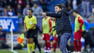 Garitano en el encuentro ante el Atlético de Madrid