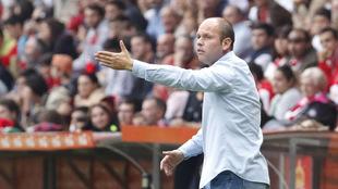 José Alberto en el encuentro ante el Zaragoza