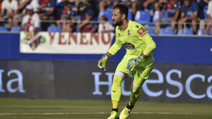 Dani Giménez en el encuentro ante el Huesca