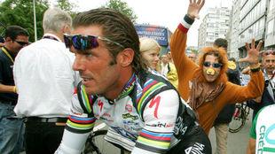 Mario Cipollini, en el Tour de 2004.