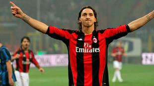 Zlatan en su etapa con el Milan.