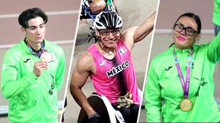 Rodolfo, Juan y Rebeca presumen sus medallas