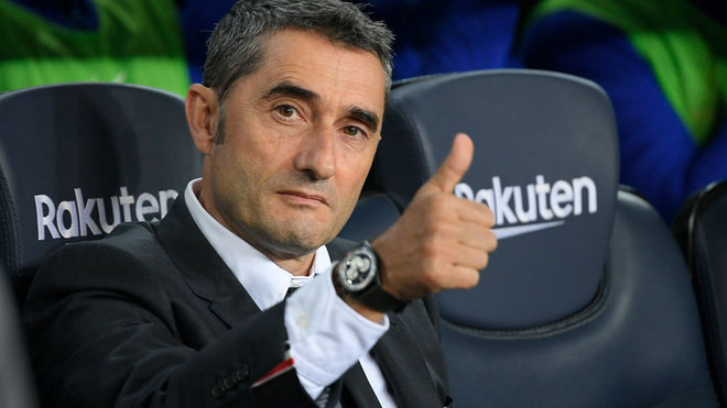 Valverde, en el banquillo durante esta temporada.