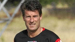 Michael Laudrup, entrenador de aquel Mallorca, en una imagen de...
