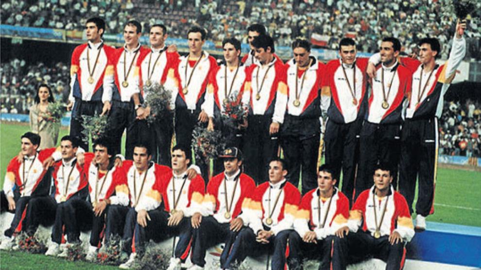 Los integrantes de la Selección para los JJOO de Barcelona'92...