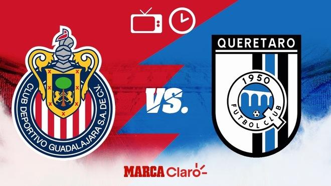 Chivas vs Querétaro, horario y dónde ver.