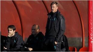Guti, en su etapa de entrenador en el juvenil del Real Madrid