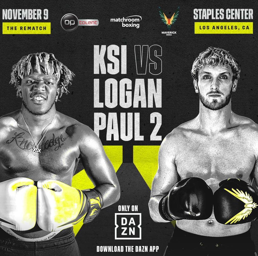 KSI vs Logan Paul: Horario y dónde ver por television hoy el combate...