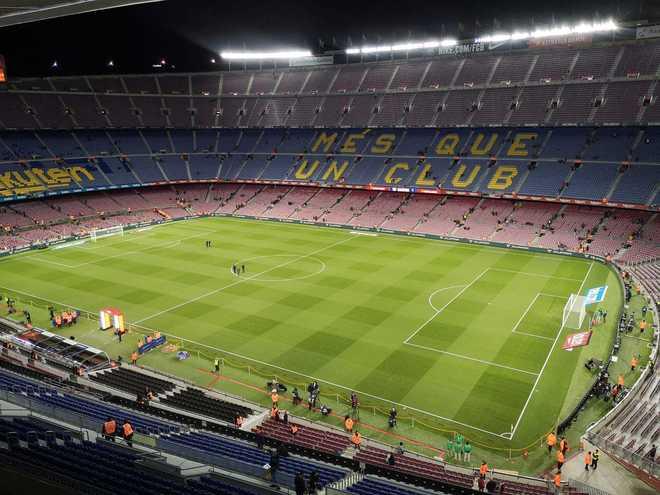 Así luce el Camp Nou a hora y media para el partido