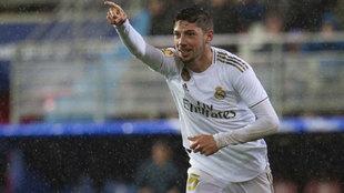 Valverde celebra su gol al Eibar.
