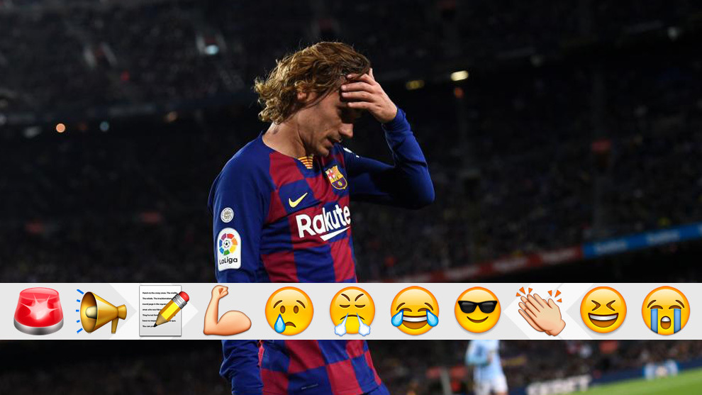 Griezmann after being substituted