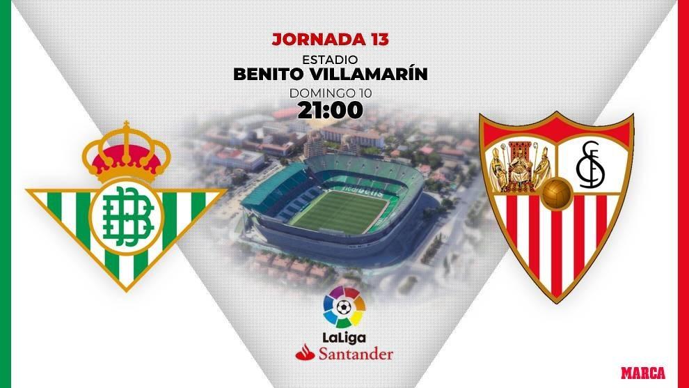 Betis-Sevilla | 10 de noviembre a las 21.00 horas