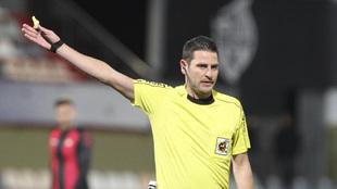 Figueroa Vázquez durante un Reus-Barça B de la 17/18
