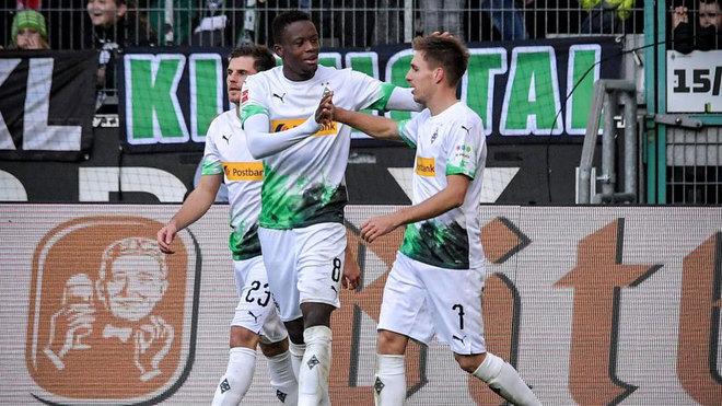 Herrmann celebra su tercer gol.