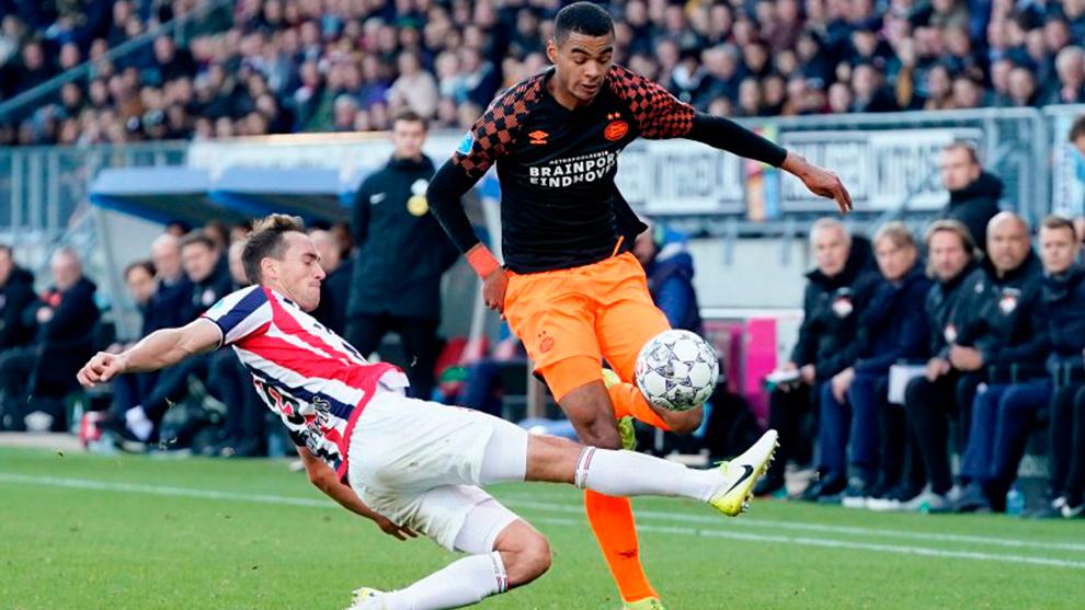 Durante el partido ante el Willem