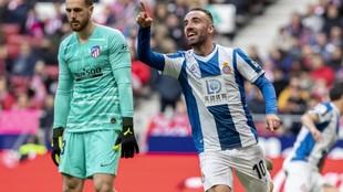 Darder celebra su gol contra el Atlético